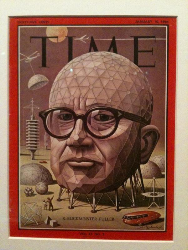 Fuller on the cover of TIME magazine in 1964.
