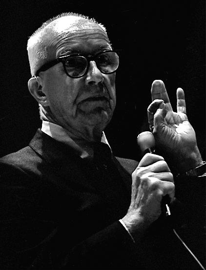 R. Buckminster Fuller's speeches espoused his philosophy on design and sustainability.