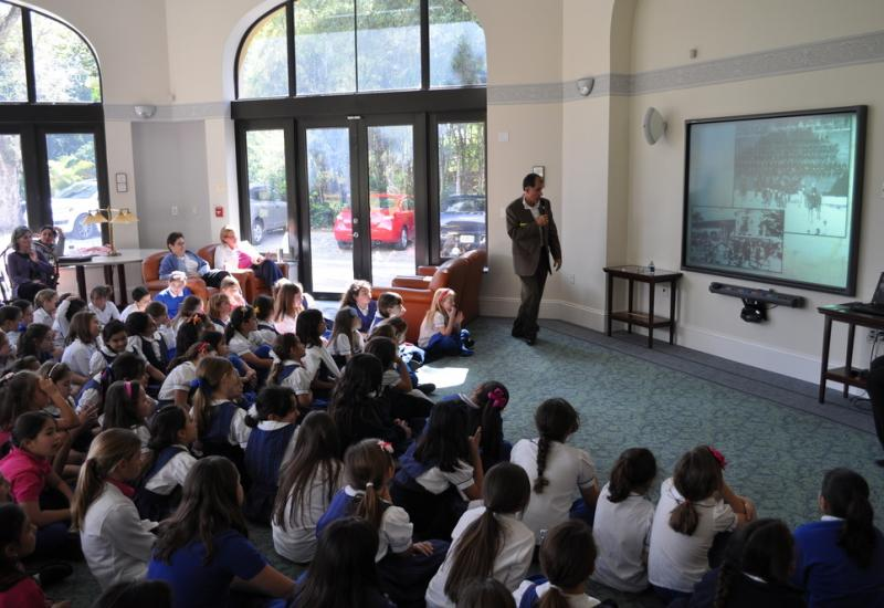 Historian Dr. Paul George Speaks to Students at Carrollton School, Coconut Grove