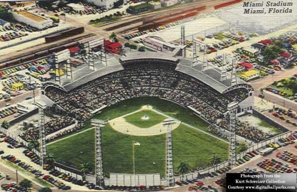 Miami Stadium Postcard circa 1930 - 1945