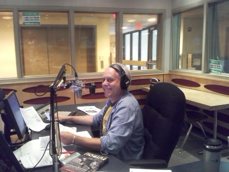 Andy Wagner in the host seat at WLRN