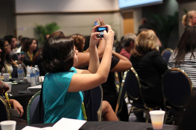 Millennials documented the event with their phones and shared them on social media with #VLPoweSummit.