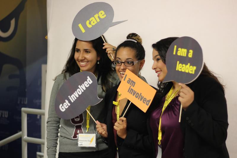 Participants used photos and social media to promote Voto Latino's message on civic engagement.