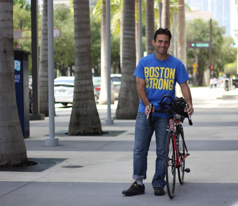 Ken Bureski is a regular rider at the monthly Critical Mass.