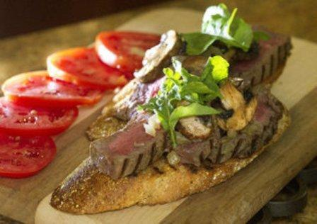 Open-Face Steak Sandwich