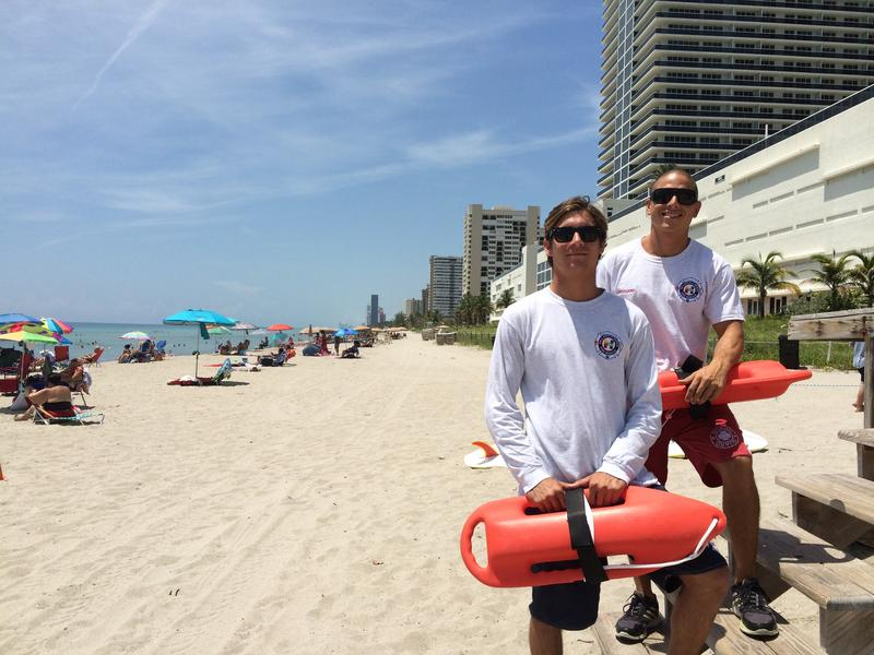 Anthony Mariano and Erick Guzman have been Ocean Rescue lifeguards for Hallandale Beach for the past several years.