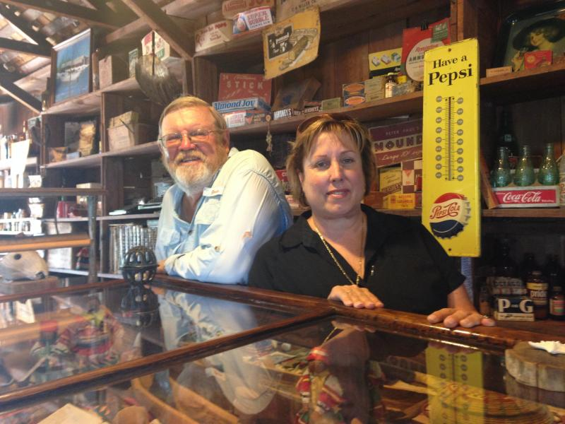 Lynn McMillin and her husband Gary McMillin run the store as a museum.