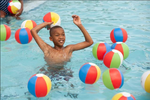 Jalen Brown 8 Enjoys The New Pool At Murray Park Aquatic Center In South Miami More Than 100 People Turned Out For Grand Opening Of