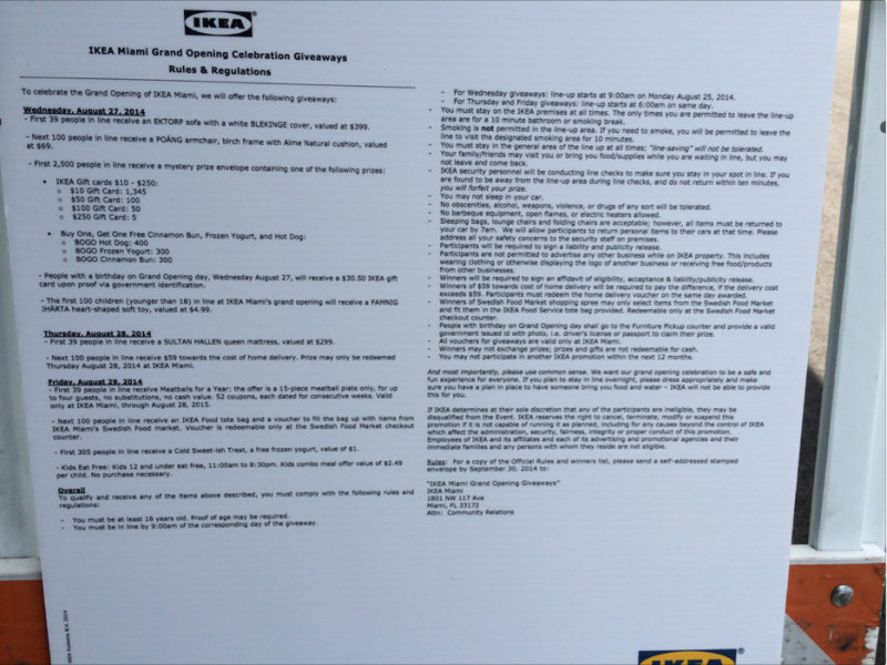 The rules for those who hope to win one of the many prizes that go to the first arrivals.