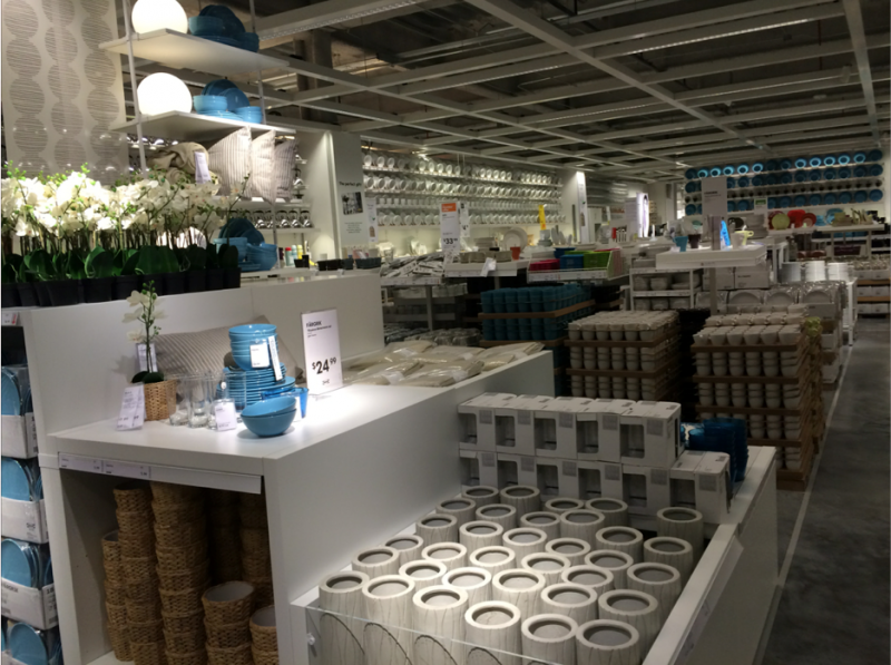 Inside the new store.