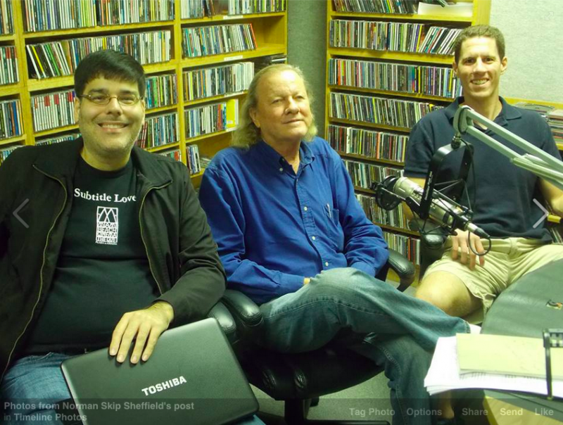 Ruben, Skip and Dan in the WLRN Studios