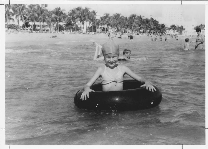 Judy in Miami Beach in the late 1940s