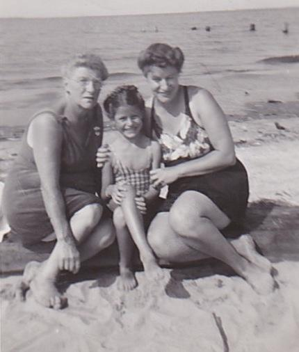 Judy with her mother and grandmother. Judy remembers her grandma making the best egg salad.