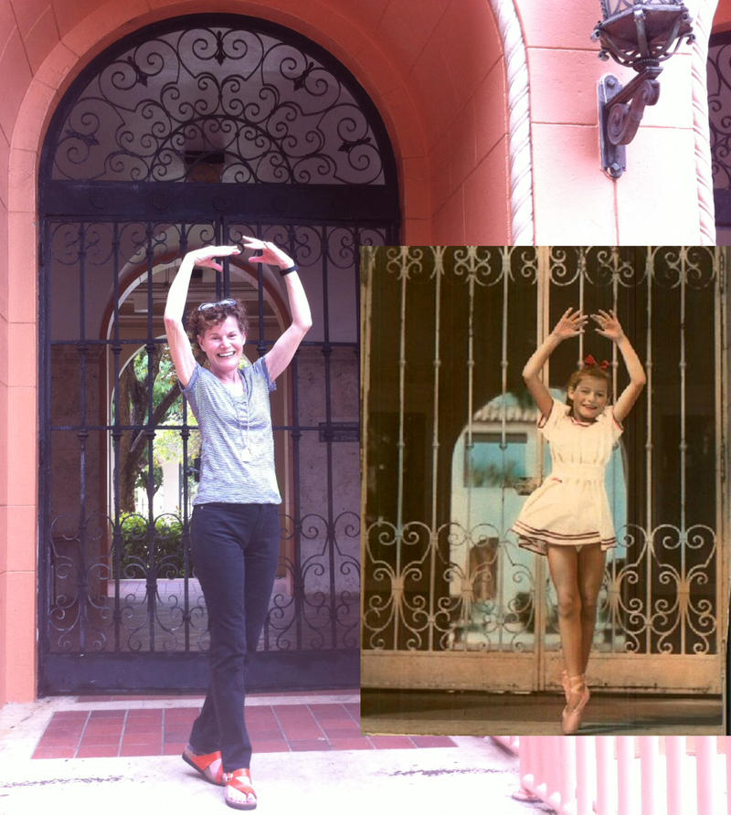 Judy Blume re-creates her famous pose on the Reality Tour. She wanted to be just like child star Margaret O'Brien.