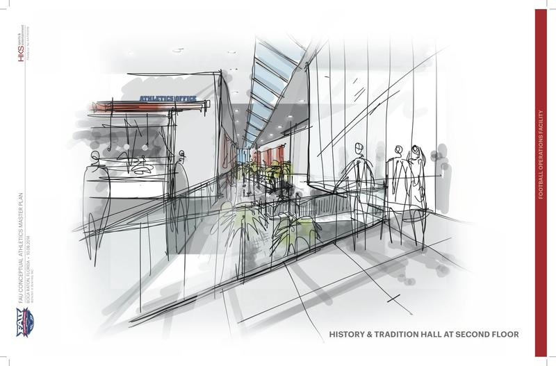 Artist renderings of The Complex's History and Tradition Hall second floor.