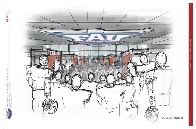 Artist renderings of The Complex's locker room.