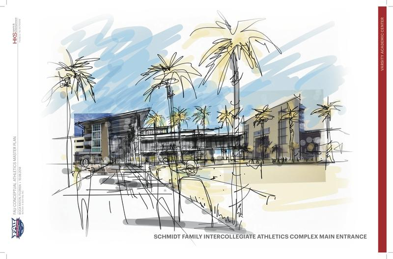 Artist renderings of The Complex's main entrance.