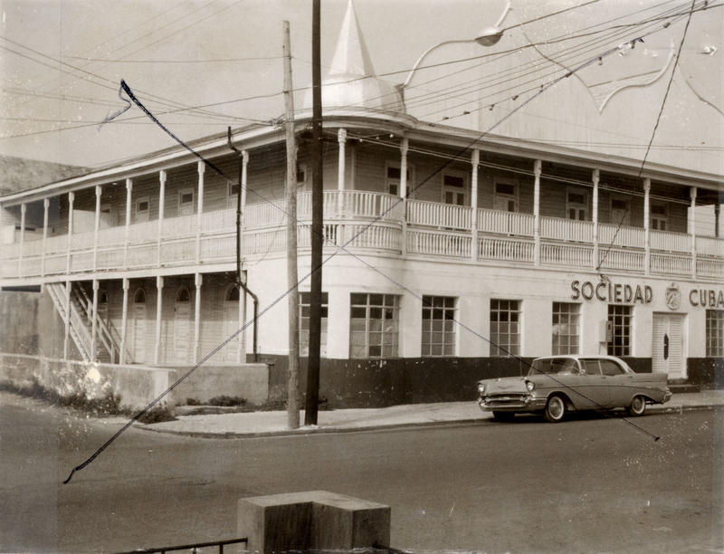 The Cuban Club at 1108 Duval Street was a social center for the island's Cuban-Americans. It burned down in the 1980s.