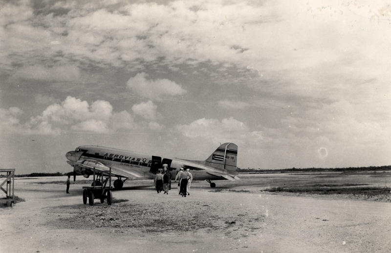 An Aerovias Q plane at Key West Airport.
