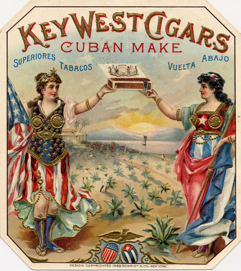 Key West Cigars box label