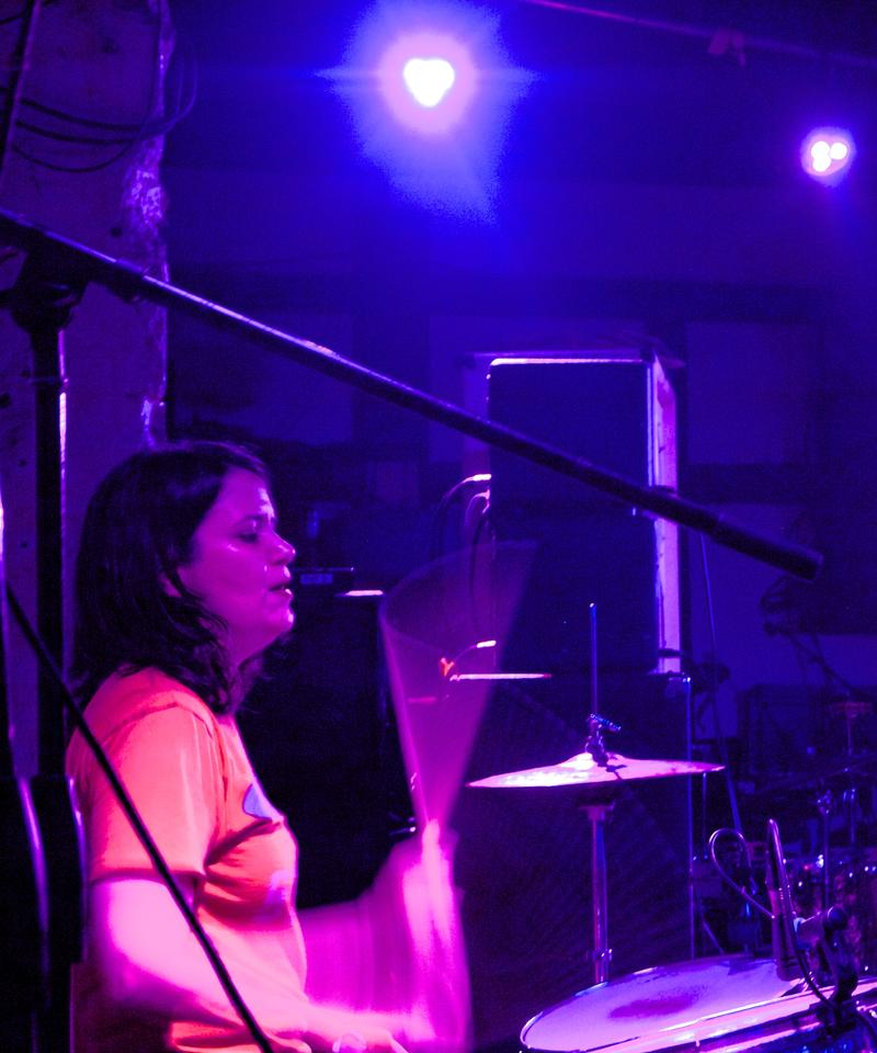 Beatriz Monteavaro, drummer of Holly Hunt, performed at the benefit.
