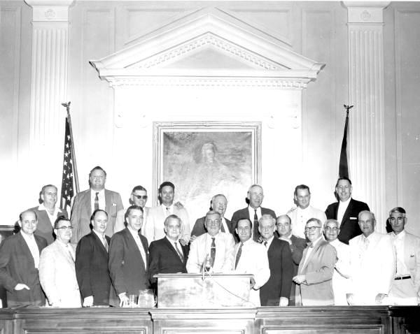 Group portrait of the Pork Chop Gang, a North Florida league of lawmakers.
