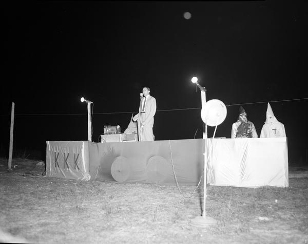 A Ku Klux Klan rally in Tallahassee, 1957.