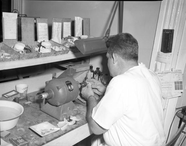 Making false teeth in Tallahassee, 1959.