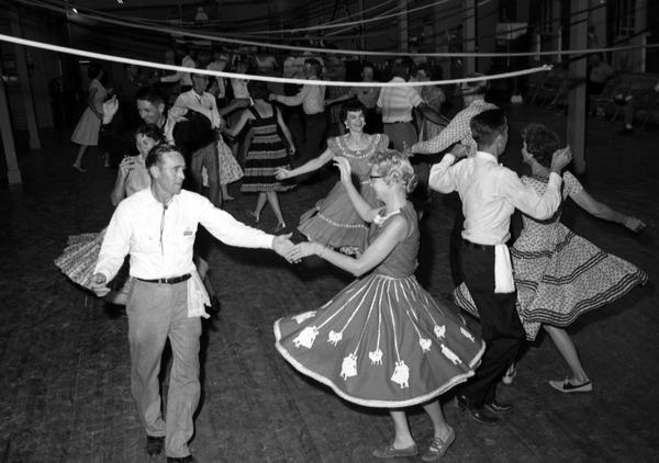 People square dancing in 1963.
