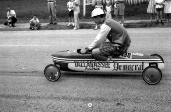 A soap box derby race, 1962.