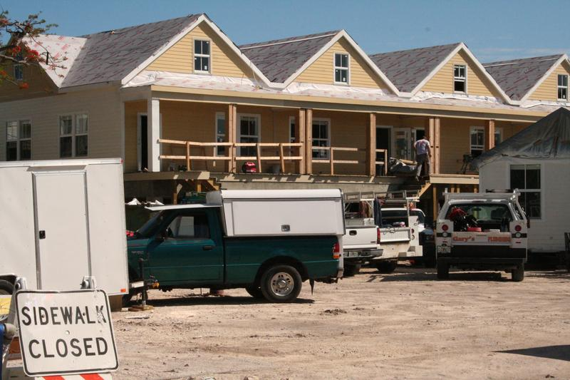 """Formerly a trailer park that provided affordable housing, this site is now under construction as """"resort homes"""" that start at $760,000."""