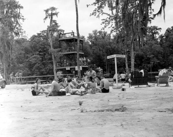 Sunbathers at Wakulla Springs, 1946.