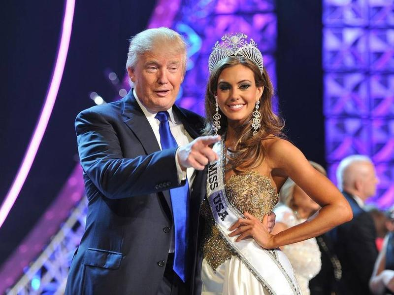Donald Trump with Miss Universe winner Erin Brady at the 2013 pageant in Las Vegas.
