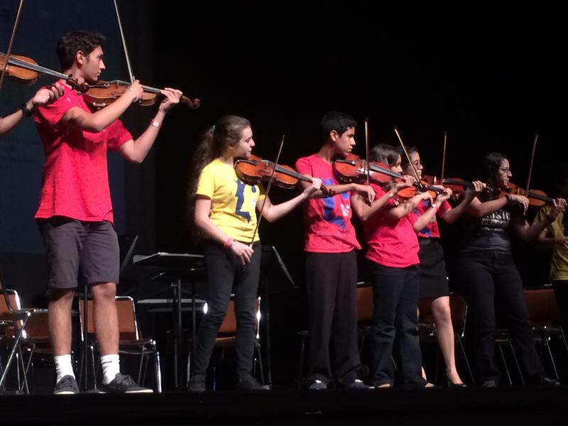 Students at the Miami Music Project perform a dancing song by composer Béla Bartók Thursday, July 2 at the Manuel Artime Theater in Little Havana. They rehearsed for four weeks in an annual summer camp.