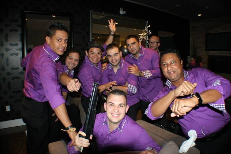 Members of the Miami-based Colombian-American salsa band Sonora Carruseles.