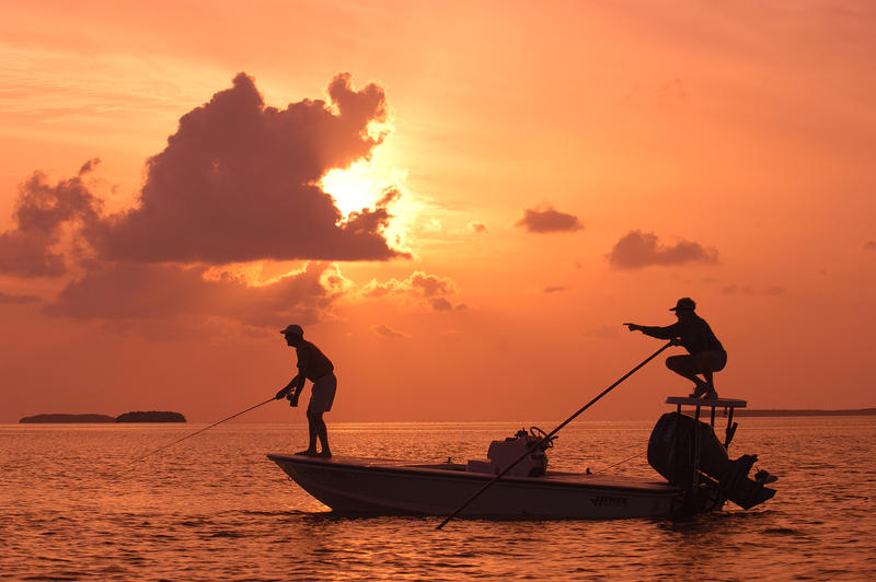 The waters of Florida Bay off the Upper Keys are world-famous for fishing. The area has attracted anglers from baseball great Ted Williams to former President George H.W. Bush, who fished the bay during his presidency.