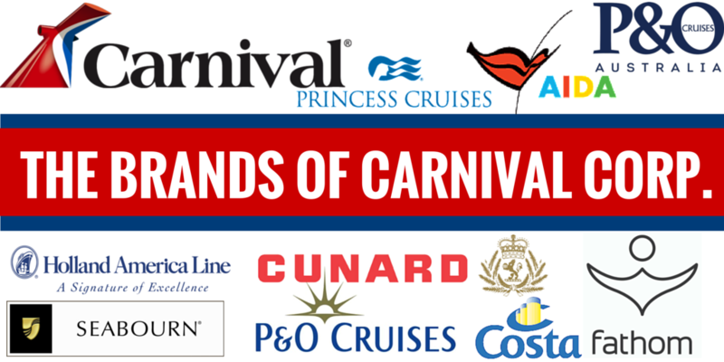 The 10 brands of Carnival Corp.