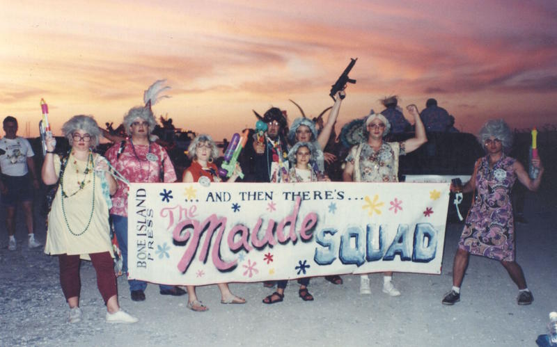 When the Fantasy Fest theme was TV Jeebies, we were the Maude Squad - everyone offering an interpretation of Bea Arthur's character.