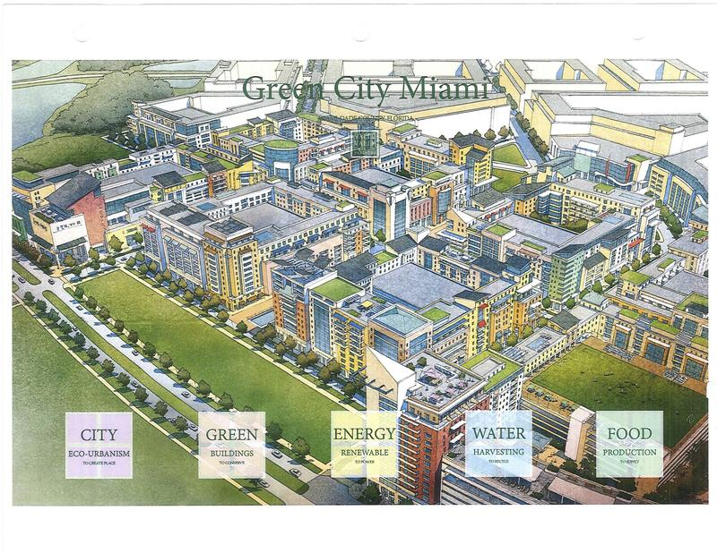 "A rendering of the proposed ""Green City"" in West Kendall. The Miami-Dade Planning Advisory Board rejected Green City's application to build beyond the urban development boundary."