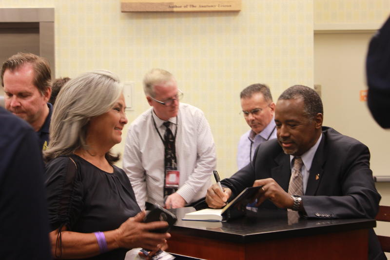 GOP presidential candidate Ben Carson on his book signing at Barnes and Noble in Fort Lauderdale.