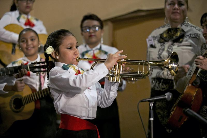 Homestead Mariachi Music Academy debut performance at El Toro Taco restaurant in Homestead.