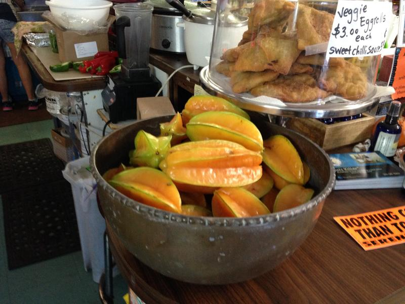 Carambola, or star fruit, from Grimal Grove makes its way to Good Food Conspiracy, a Big Pine Key health food store.
