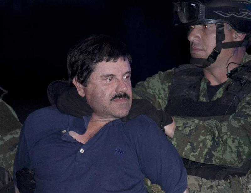 "Mexican drug lord Joaquin ""Chapo"" Guzman after his recapture last week."