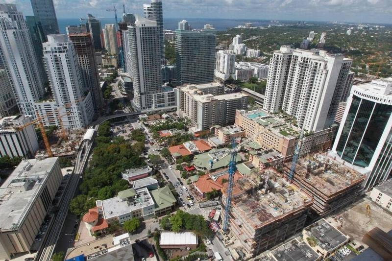 A Miami Herald file photo from June shows how many construction projects are taking place in the Brickell area.