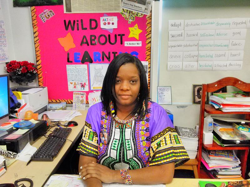 Tawana Akins is a 13-year Miami-Dade public school teacher. She has lost family members and students to gun violence.