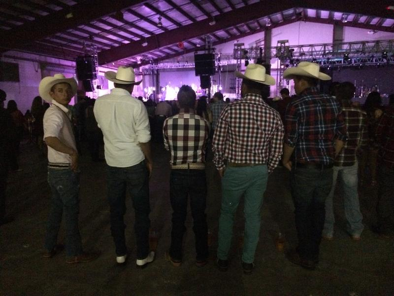 Fans watch one of the opening acts for the Los Tigres Del Norte concert in West Palm Beach on Feb. 19.