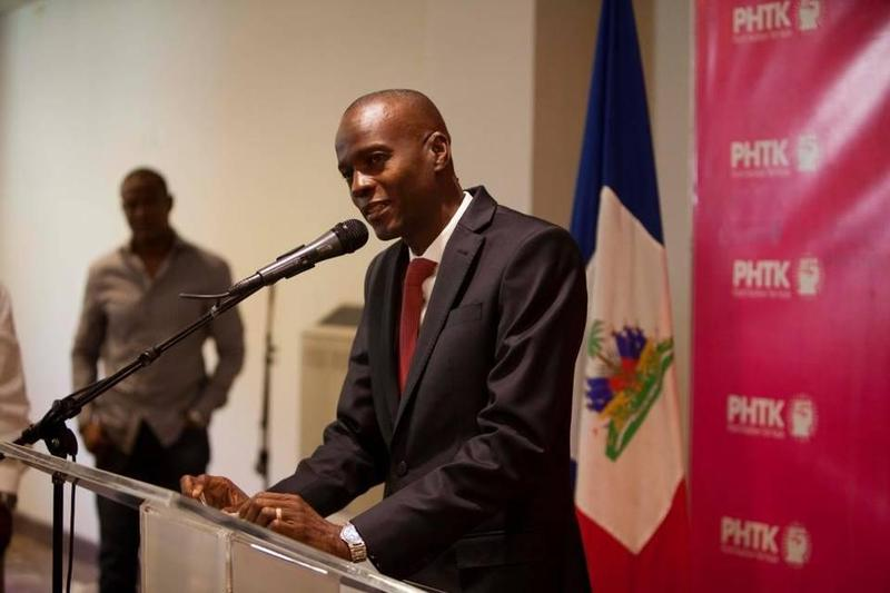 Haitian presidential candidate Jovenel Moise campaigning in Port-au-Prince in January.