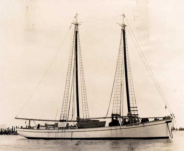 The schooner Western Union was built in Key West as a cable tender. Now it's the flagship of Key West — and the state of Florida.