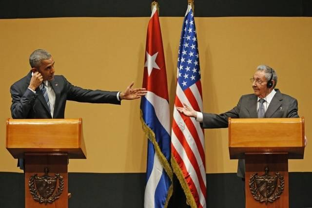 President Obama (left) and Raul Castro during Obama's trip to Havana last month. Cuba experts say the visit may have changed the dynamic of Cuba's upcoming Communist Party Congress.