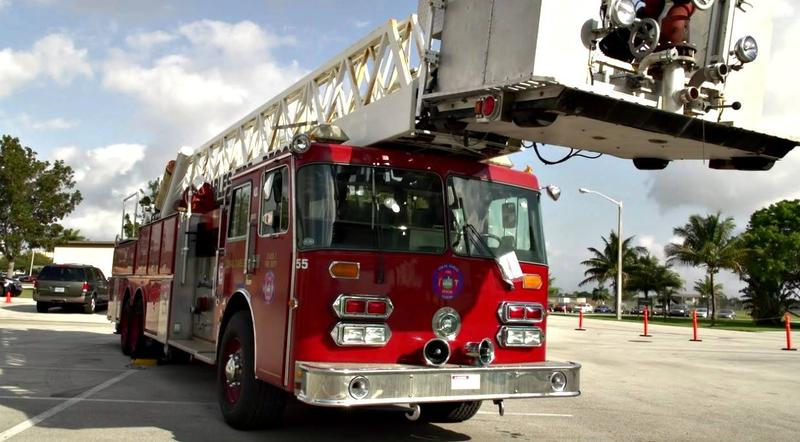 A Coral Gables fire truck
